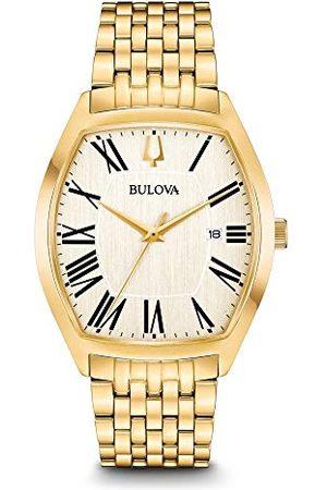 BULOVA Herr analog klassisk kvartsklocka med rostfritt stålrem 97B174