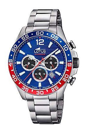 Lotus Mäns kronograf kvarts klocka med rostfritt stål armband 18696/1