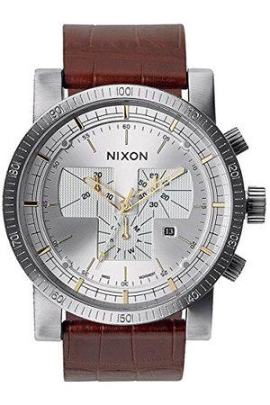 Nixon Herrarmbandsur magnacon läder II gator analog kvarts läder A4581887-00