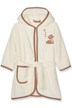 Playshoes Barn frotté badrock björn med huva, fluffig varm morgonrock för pojkar och flickor