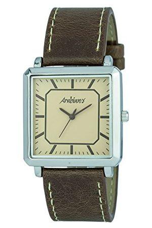 ARABIANS Analog kvartsklocka för män med läderrem HBA2256M