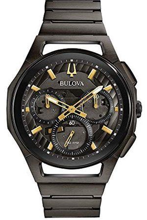 BULOVA Kronograf automatisk klocka med rostfritt stålrem 98A206