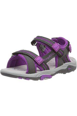 KangaROOS Unisex barn K-Leni slutna sandaler, Gråkol 2096-31 EU