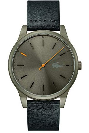 Lacoste Herr analog klassisk kvartsklocka med läderrem 2011001