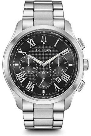 BULOVA Mäns kronograf kvarts klocka med rostfritt stål armband 96B288