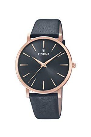 Festina Damer analog kvarts klocka med läder armband F20373/2