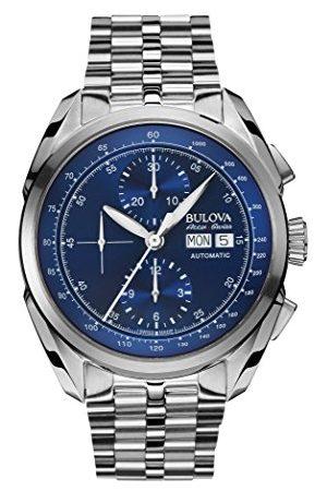 BULOVA Accu Swiss Tellaro Automatisk klocka för män med urtavla kronograf display och silverarmband i rostfritt stål 63C121