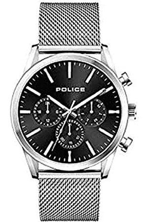 Police Polis herr analog kvartsklocka med rostfritt stålrem 1