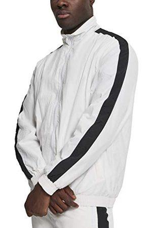 Urban classics Herr träningsjacka Striped Sleeve Crinkle Track Jacket