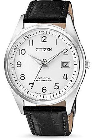 Citizen Herr analog soldriven klocka med läderrem AS2050-10A