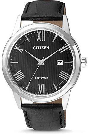 Citizen Mäns analog kvarts klocka med läder armband AW1231-07E
