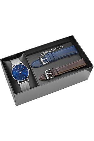 Pierre Lannier Män analog kvartsur med rostfritt stål armband 377B168