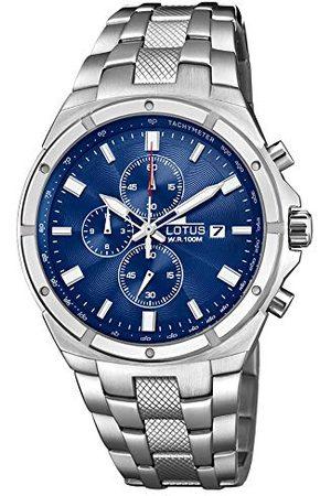 Lotus Herr Chronograph kvartsklocka med rostfritt stål armband 10135/2