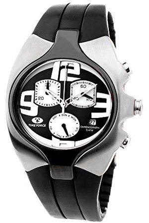Time Force Analog kvartsklocka med gummiband TF2640M-04-1