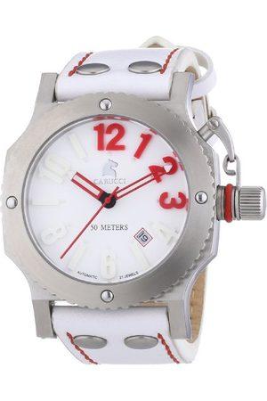 Carucci Watches herrarmbandsur XL analog automatisk läder CA2210SL-RD
