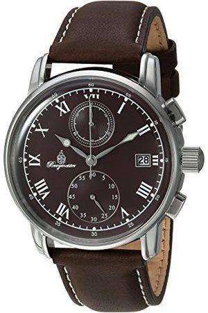 Burgmeister Herr kronograf kvartsur med läderarmband BM334–195