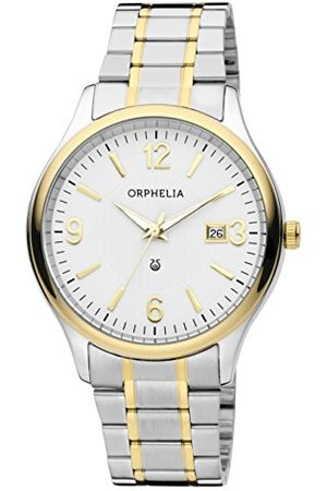 ORPHELIA Herrarmbandsur tradition analog kvarts rostfritt stål armband /
