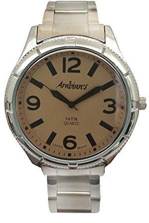 ARABIANS Herr analog kvartsklocka med rostfritt stålrem HAP2199M