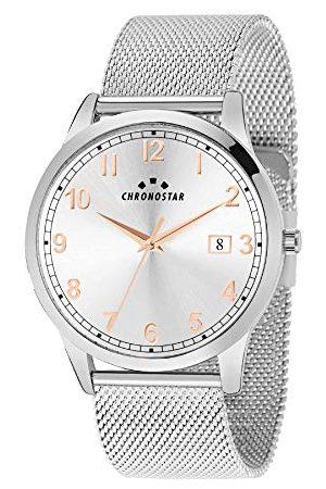 Chronostar Herr analog kvartsklocka med rostfritt stål armband R3753269002