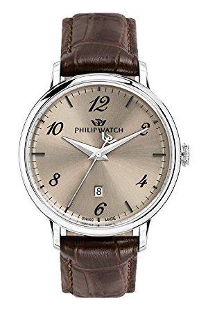 Philip Watch Herr analog kvartsklocka med läderarmband R8251595004