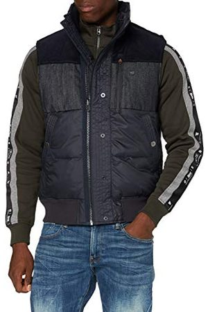 G-Star Herr denim mix quiltad väst jacka