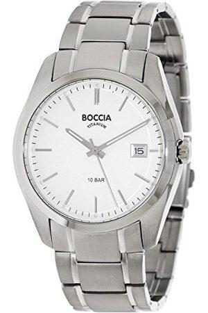 Boccia Mäns digital kvarts klocka med titan armband 3608-03