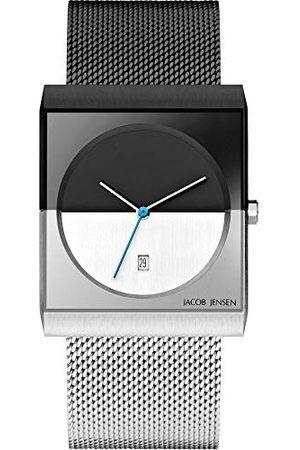 Jacob Jensen Herr analog kvartsklocka med rostfritt stål armband JJ515