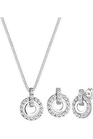 Elli Dam smyckeset cirkel berlock gnistrande med Swarovski kristaller i 925 sterlingsilver