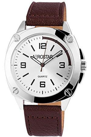 Aerostar Herr analog kvartsklocka med läderarmband 21102250008