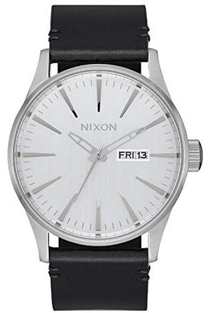 Nixon Herr analog kvartsklocka med läderarmband A105-2871-00