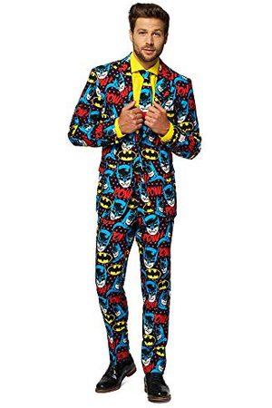 OppoSuits Herr The Dark Knight – Licensierade superhjälte halloween kostymer för män – full kostym: Jacka, byxor och slips herrdräkt