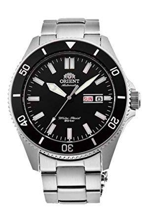 Orient Herrar analog automatisk klocka med rostfritt stål armband RA-AA0008B19B