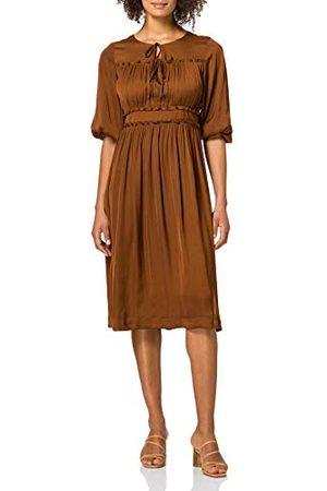 Scotch&Soda Dam halvlång klänning med volangdetaljer klänning