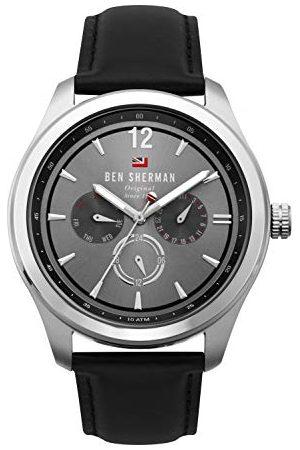 Ben Sherman Herr multiurtavla kvartsklocka med läderrem WBS112B