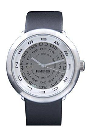 666Barcelona Herr analog kvartsklocka med läderarmband 666–230