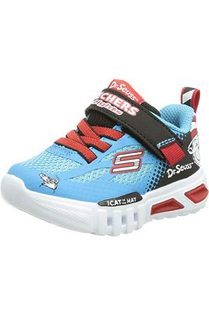 Skechers Pojkar Flex-Glow Lighted Things Sneaker, Blbk8 UK
