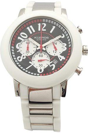 K&Bros Herr Chronograph kvartsur med rostfritt stål armband 9428-1-930