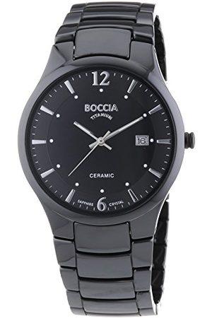 Boccia Herr analog kvartsklocka med keramiskt armband – 3572-02