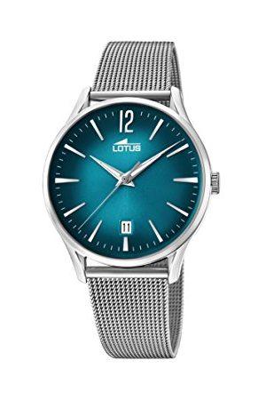 Lotus Herr datum klassisk kvartsklocka med rostfritt stål armband 18405/4