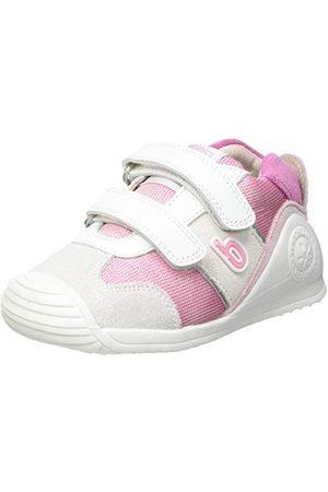 Biomecanics Babyflicka 212123-a sneaker, Blanco Y Fucsia suvage Y Pique18 EU