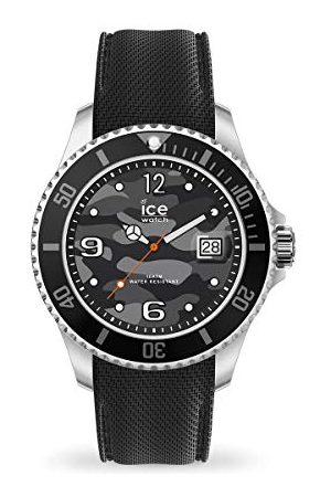 Ice-Watch ICE stål arméherrarmbandsur med silikonrem017328 (extra stor)