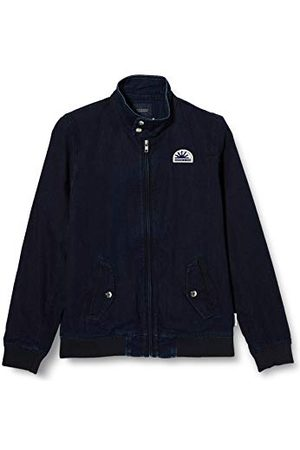 Scotch&Soda Pojkar AMS Blauw Easy Harrington denimjacka