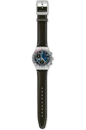 Swatch Herr hängande prosper läderrem kronograf klocka