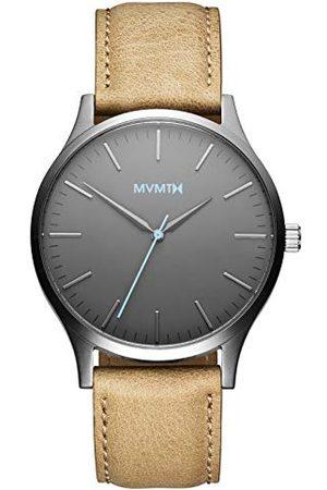 MVMT Herr analog kvartsklocka med läderarmband D-MT01-GML