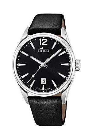 Lotus Herr analog kvartsklocka med läderrem 18693/3