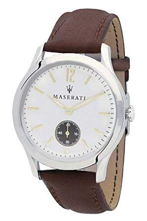 Maserati Herr datum klassisk kvartsklocka med läderarmband R8851125001