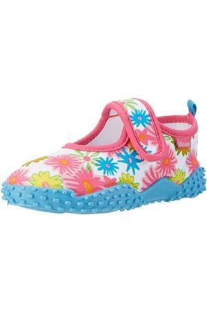 Playshoes Unisex barn badsko blomhav med UV-skydd aqua skor, rosa32/33 EU