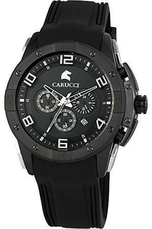 Carucci Watches herrarmbandsur XL analog kvarts gummi CA2214BK