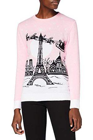 British Christmas Jumpers Brittiska jultröjor dam Paris eko-jultröja tröja tröja