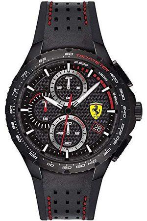 Scuderia Ferrari Analog kvartsklocka för män med läderrem 0830734